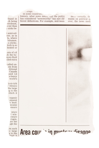 Typescript「Torn out newspaper clipping with blank space」:スマホ壁紙(5)