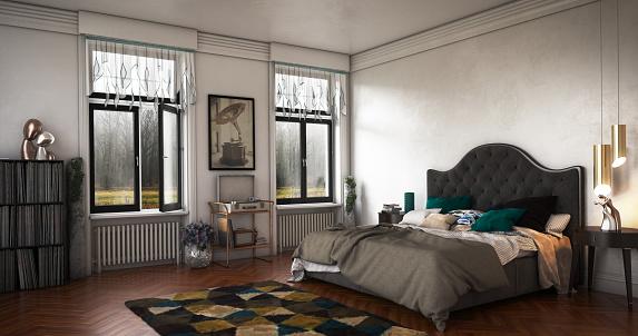 Curtain「Luxury Bedroom Interior」:スマホ壁紙(7)
