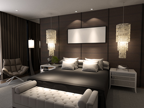 Night「Luxury Bedroom Interior」:スマホ壁紙(12)