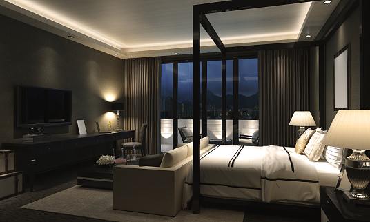 Villa「Luxury Bedroom Interior」:スマホ壁紙(8)