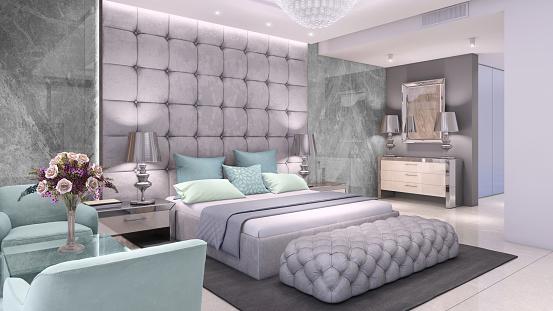 Motel「Luxury bedroom interior with marble wall」:スマホ壁紙(9)