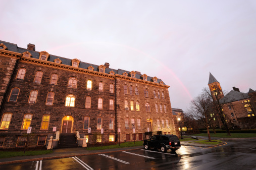 Rain「University Campus with Rainbow」:スマホ壁紙(3)