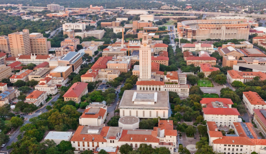 City Life「University of Texas UT Austin campus aerial view from Helicopter」:スマホ壁紙(1)
