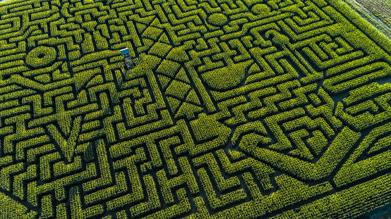 Pennsylvania「The huge Halloween's Corn Maze in Pennsylvania, Poconos Region」:スマホ壁紙(2)
