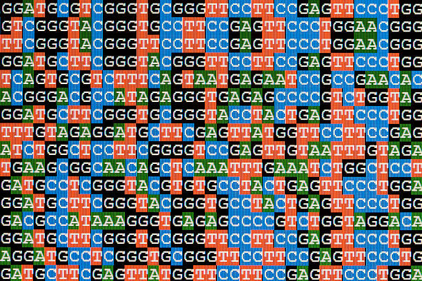 DNA sequences unaligned on LCD computer screen:スマホ壁紙(壁紙.com)