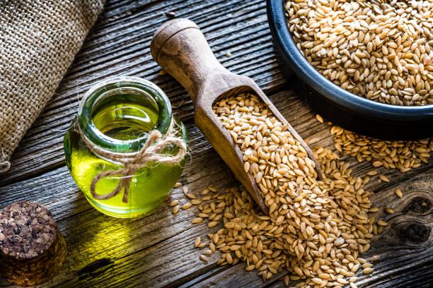 Healthy eating: Ffax seed oil and flax seeds:スマホ壁紙(壁紙.com)