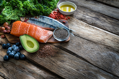Salmon - Animal「Healthy eating: selection of antioxidant group of food rich in Omega-3」:スマホ壁紙(18)