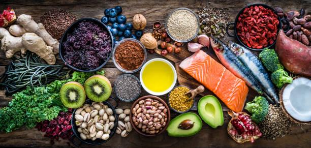 Healthy eating: selection of antioxidant group of food:スマホ壁紙(壁紙.com)