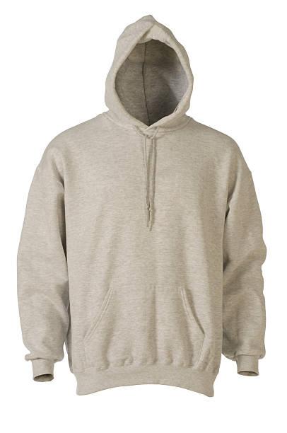 Gray hooded, blank sweatshirt front-isolated on white:スマホ壁紙(壁紙.com)