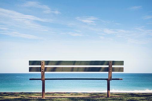 Behind「Park Bench With Sea View」:スマホ壁紙(11)