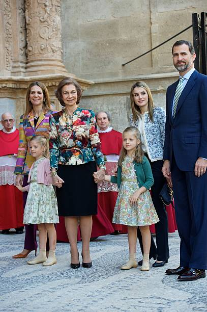 Spanish Royals Attend Easter Mass in Palma de Mallorca:ニュース(壁紙.com)