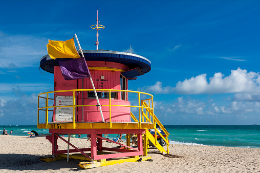 Miami Beach「Lifeguard tower on South Beach」:スマホ壁紙(19)