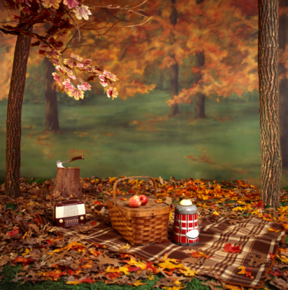 Picnic「Picnic basket in autumn」:スマホ壁紙(5)