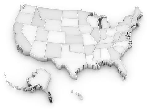アラスカ「ホワイトの米国地図でもアメリカ(アラスカまたはハワイ州)」:スマホ壁紙(6)
