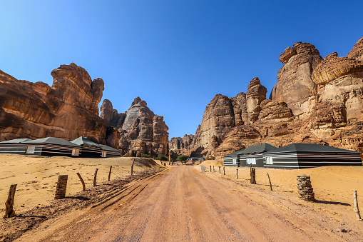 Tent「Desert camp, Al-Ula, Medina, Saudi Arabia」:スマホ壁紙(1)