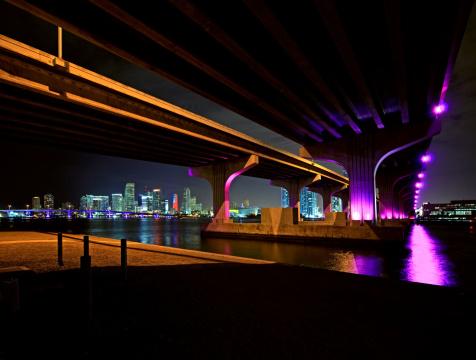 Miami Beach「MacArthur Causeway にマイアミの」:スマホ壁紙(16)