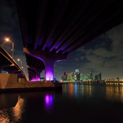 Miami Beach「MacArthur Causeway にマイアミの」:スマホ壁紙(18)