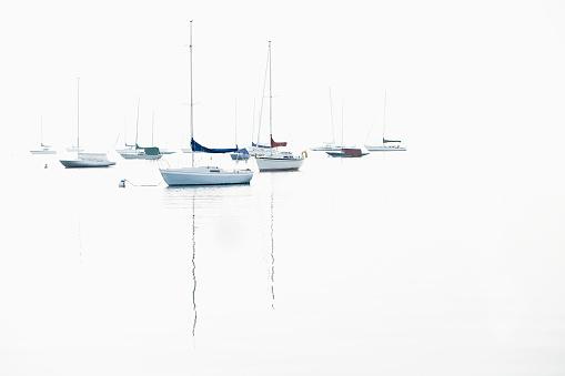 Sailboat「Boat masts reflecting in water」:スマホ壁紙(14)