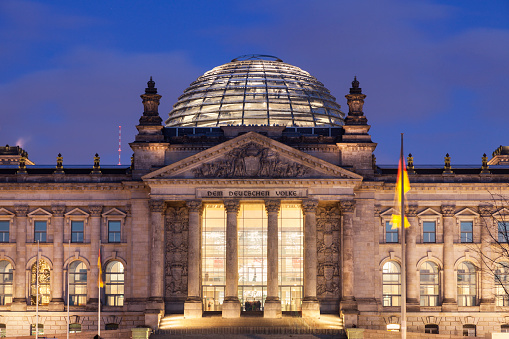 The Reichstag「Germany, Berlin, Reichstag at night」:スマホ壁紙(14)