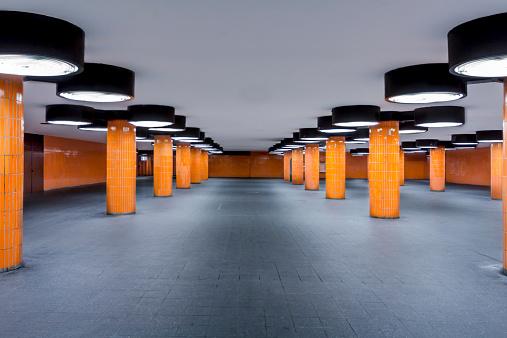 Pole「Germany, Berlin, unfinished subway station at the international congress centrum」:スマホ壁紙(11)
