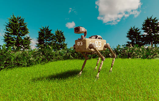 Science Fiction Film「Robotic dog with security camera on search and rescue mission outside」:スマホ壁紙(8)