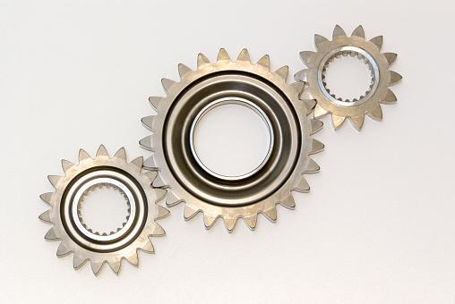 Gear - Mechanism「Three steel gears in line」:スマホ壁紙(4)