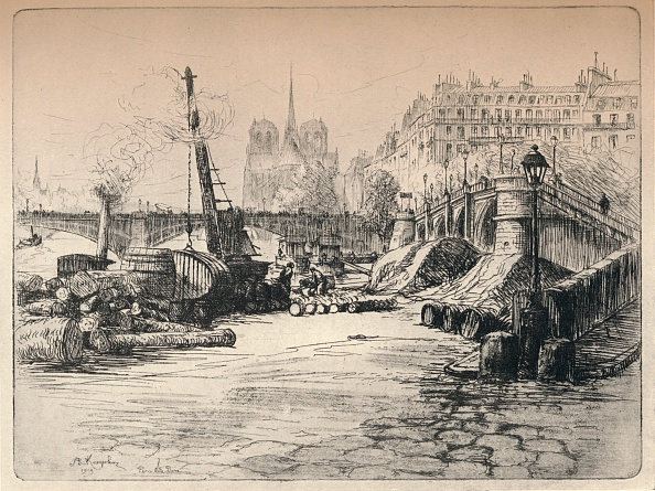 Physical Geography「'Notre-Dame and the Quai de Bethune', 1915」:写真・画像(9)[壁紙.com]