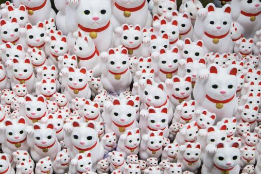 幸運「Lucky Cat figurines」:スマホ壁紙(6)