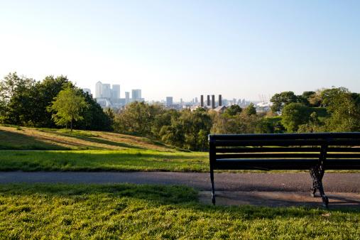 Public Park「London -  Canary Wharf skyline」:スマホ壁紙(13)