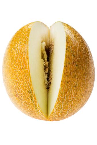 メロン「melon on white background」:スマホ壁紙(8)