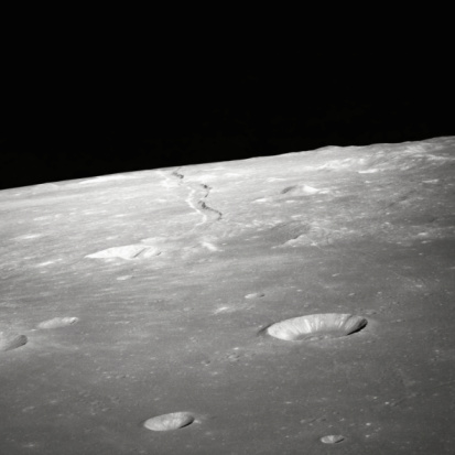 月「Moon Surface and Horizon」:スマホ壁紙(1)