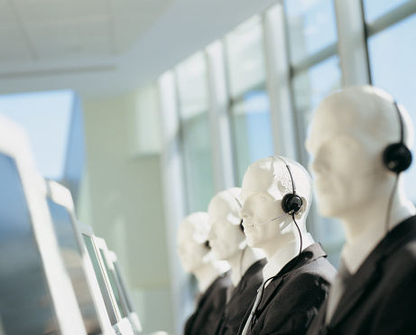 Full Suit「Line of Telesales Dummies Sitting in Front of Computer Monitors」:スマホ壁紙(18)