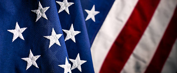 The U S A fabric flag close up:スマホ壁紙(壁紙.com)