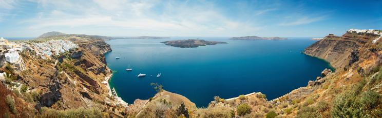 Greek Culture「Santorini caldera」:スマホ壁紙(16)