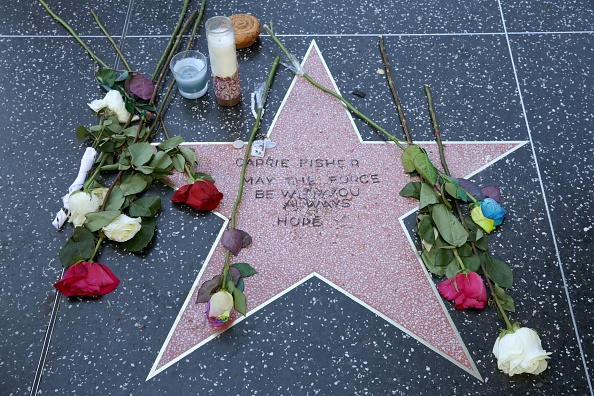 Walk Of Fame「Carrie Fisher Remembered With Makeshift Star On The Hollywood Walk Of Fame」:写真・画像(18)[壁紙.com]