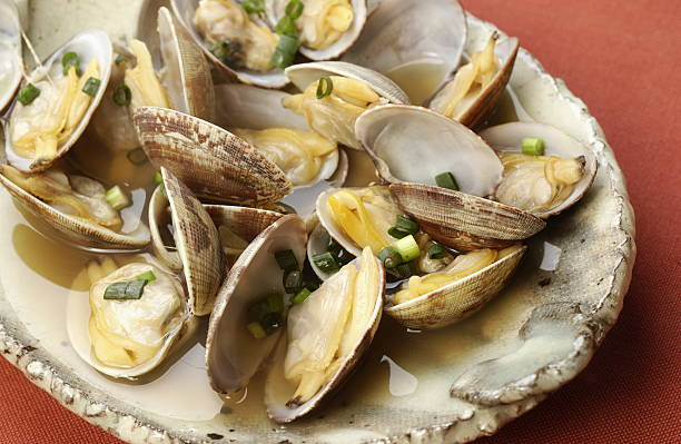 Clams steamed by sake:スマホ壁紙(壁紙.com)