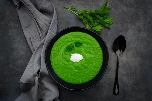 Sour Cream「Bowl of pea mint soup」:スマホ壁紙(16)