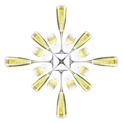 Digital Composite「Champagne flute snowflake」:スマホ壁紙(4)