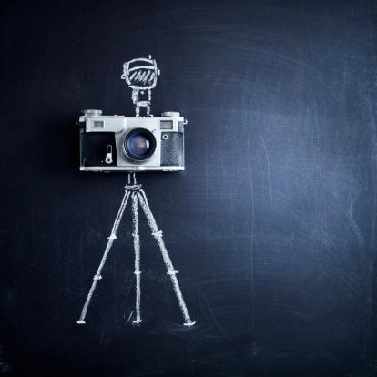 Chalk - Art Equipment「Aged camera on tripod」:スマホ壁紙(19)