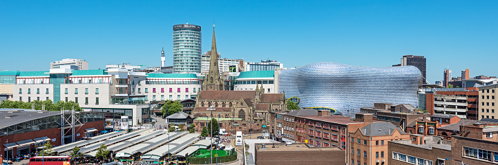 Wide Angle「Birmingham Cityscape, England, UK」:スマホ壁紙(10)