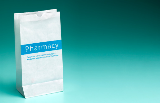 Healing「Pharmacy prescription bag with copy space」:スマホ壁紙(19)