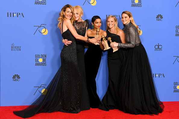 Golden Globe Award trophy「75th Annual Golden Globe Awards - Press Room」:写真・画像(11)[壁紙.com]