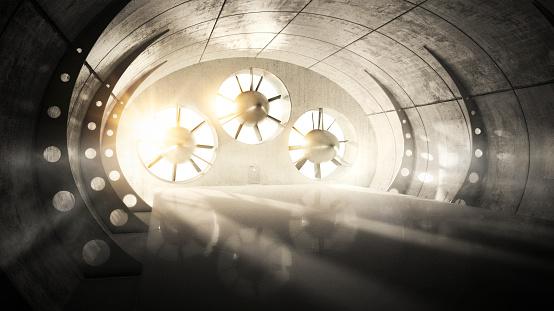 Aerodynamic「Wind tunnel with backlight」:スマホ壁紙(2)