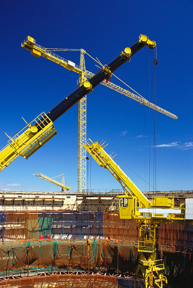 Construction Equipment「Cranes at Sizewell B reactor core, Suffolk, UK」:写真・画像(7)[壁紙.com]