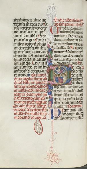 Perugia「Missale: Fol. 208V: Ascension Of Christ」:写真・画像(17)[壁紙.com]