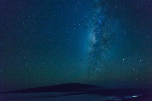 star sky「Hawaii, Mauna Kea Observatory」:スマホ壁紙(3)