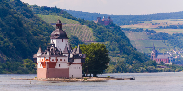 UNESCO「Germany, Rhineland-Palatinate, View of Pfalzgrafenstein Castle near Kaub on Rhine river」:スマホ壁紙(10)
