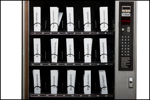 Machinery「cosmetic surgery procedures in a vending machine」:スマホ壁紙(6)