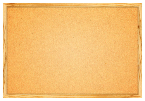 Wooden Post「Blank Corkboard (Clipping path) isolated on White background」:スマホ壁紙(1)