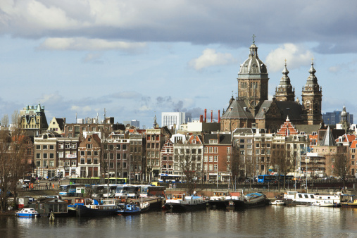 Amsterdam「Holland, Amsterdam, St Nicholas church and skyline」:スマホ壁紙(12)